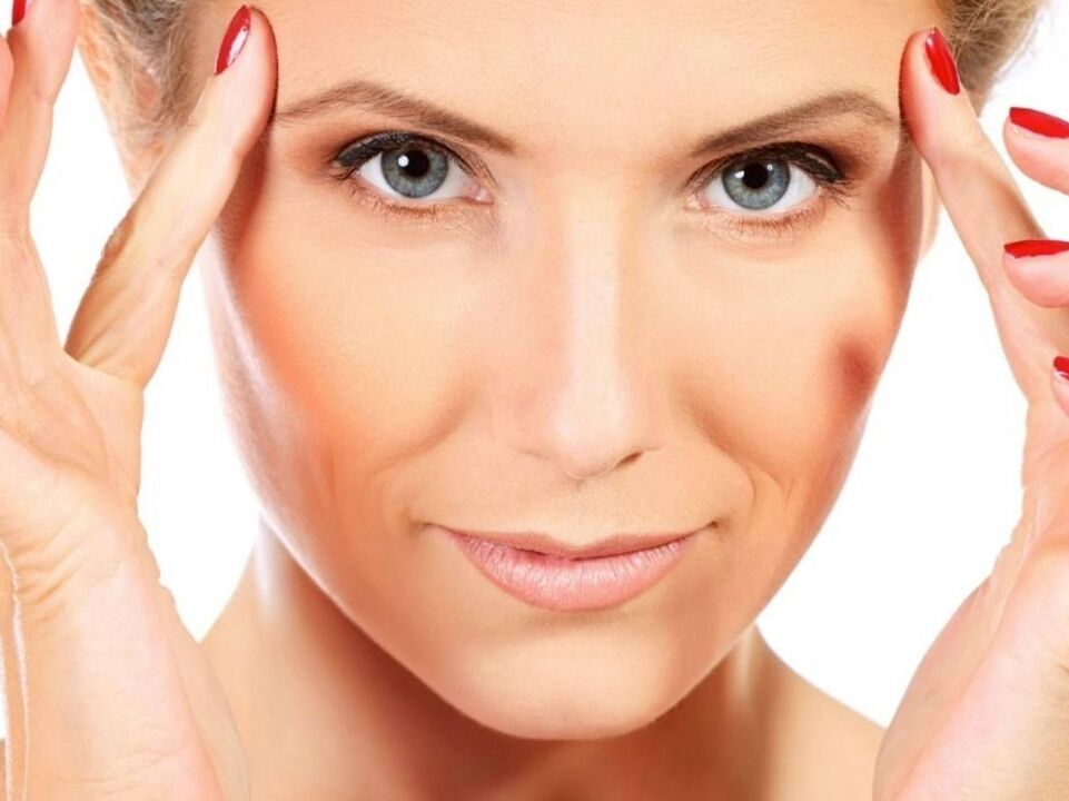 Massagem facial rejuvenescedora